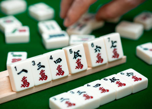 Playing MahJong Photograph